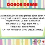 Informasi Pembatalan Kegiatan Donor Darah
