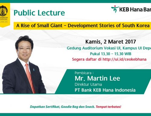 "Public Lecture KEB Hana Bank ""A Rise Small Giant – Development Stories of South Korea"""