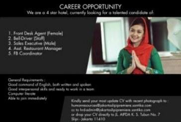 Career Opportunity Hotel Santika Slipi Jakarta