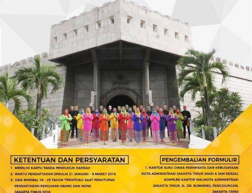 Pemilihan Abang & None Jakarta Timur 2018