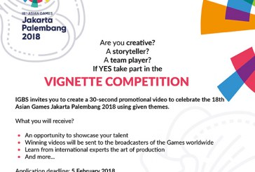 Vignette Competition 18th Asian Games Jakarta Palembang 2018