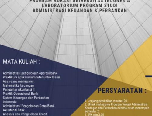 Lowongan Asisten Praktik dan Asisten Lab Prodi Adm. Keuangan dan Perbankan