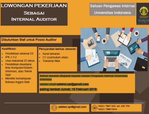 Lowongan Pekerjaan sebagai Internal Auditor