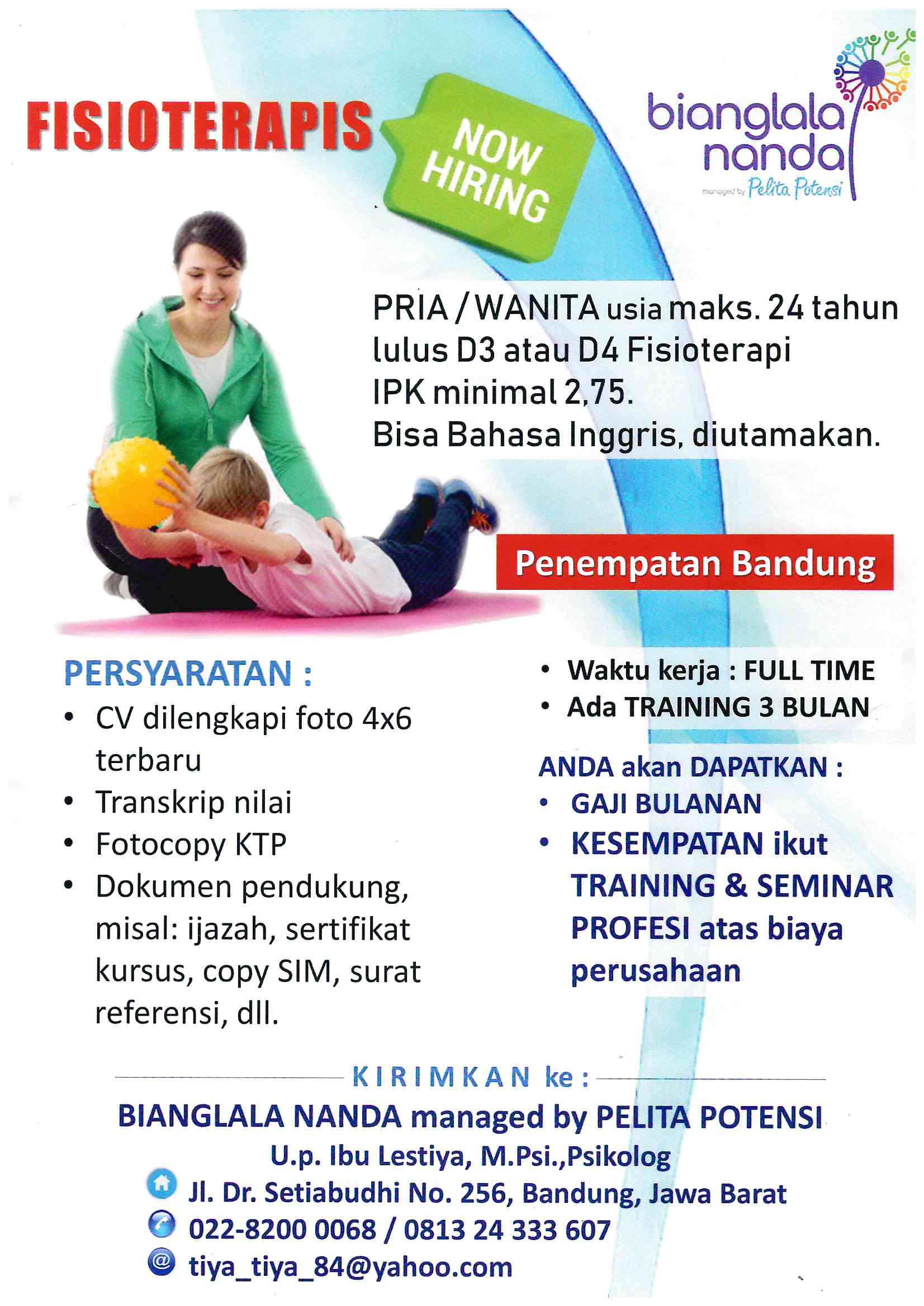 Lwoongan Fisioterapis Bandung Program Pendidikan Vokasi Universitas Indonesia