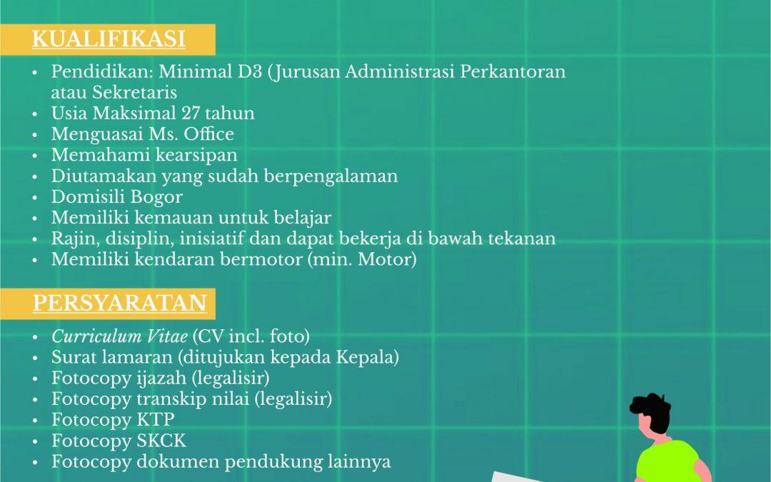 Lowongan Staf Sekretariat dan Tata Usaha
